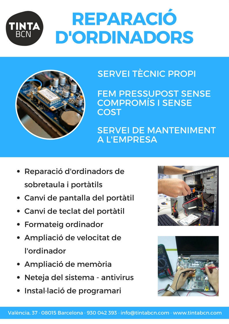 Servei de reparaci d 39 ordinadors reparaci d 39 ordinadors for Oficinas de dhl en barcelona